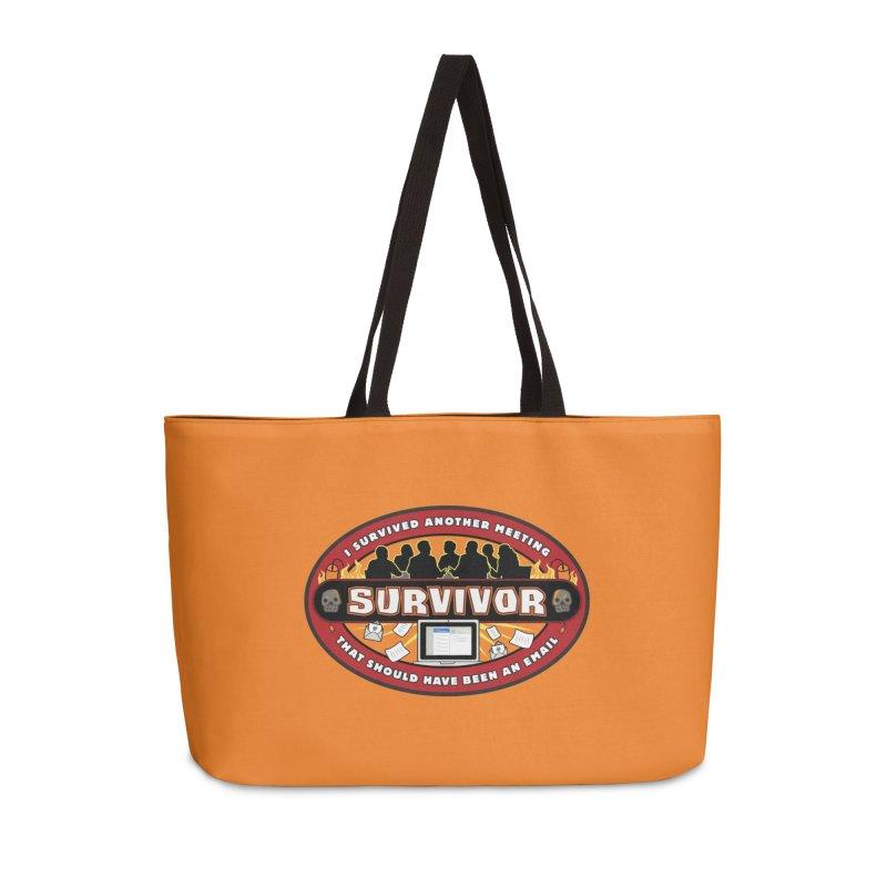 Meeting Survivor Accessories Weekender Bag Bag by The Incumbent Agency