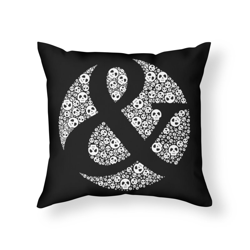 Amperskull Home Throw Pillow by theinkedskull