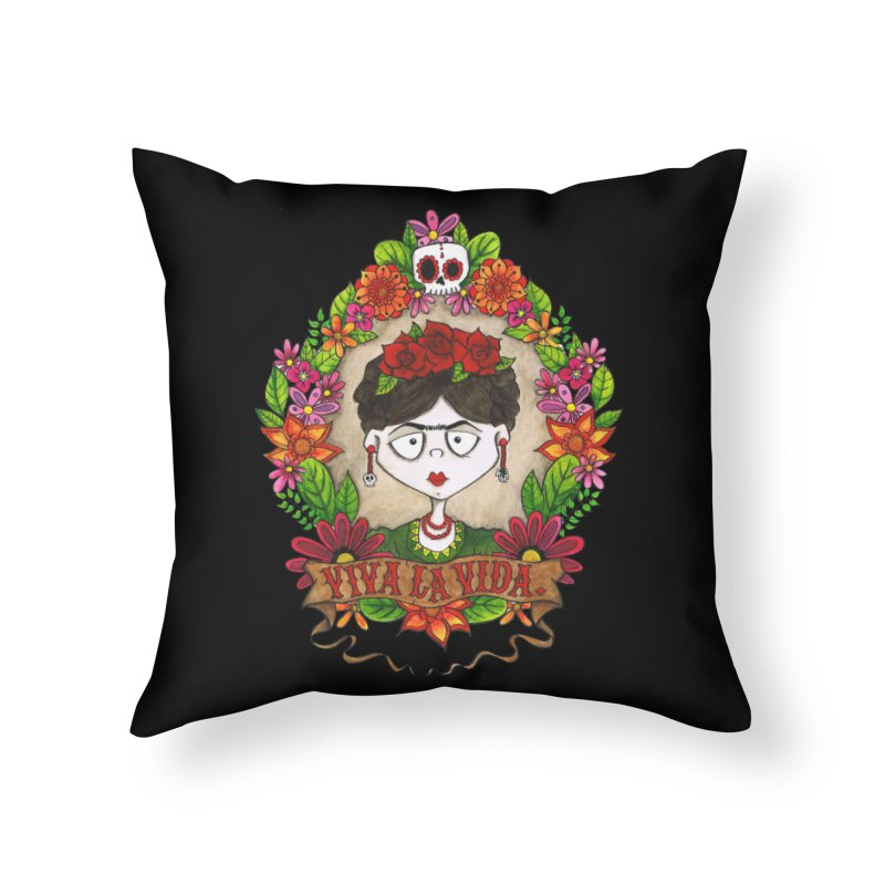 Viva La Vida Home Throw Pillow by theinkedskull