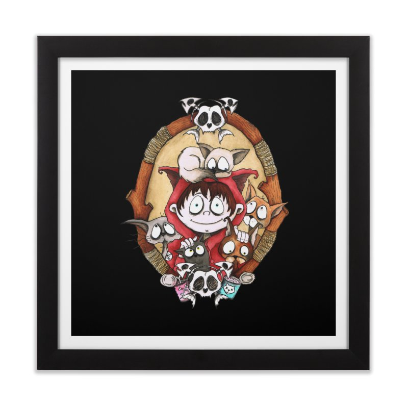Embrace the Crazy Home Framed Fine Art Print by ink'd