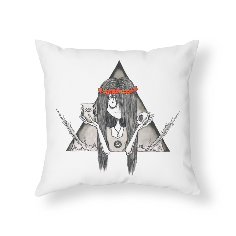 Aquarius Home Throw Pillow by ink'd