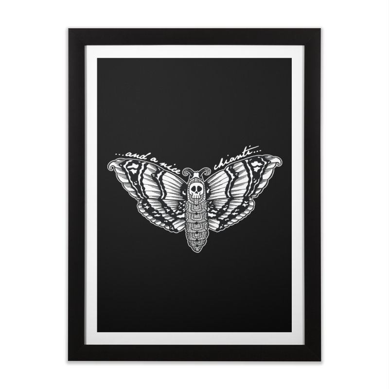 And a nice Chianti ... Home Framed Fine Art Print by ink'd