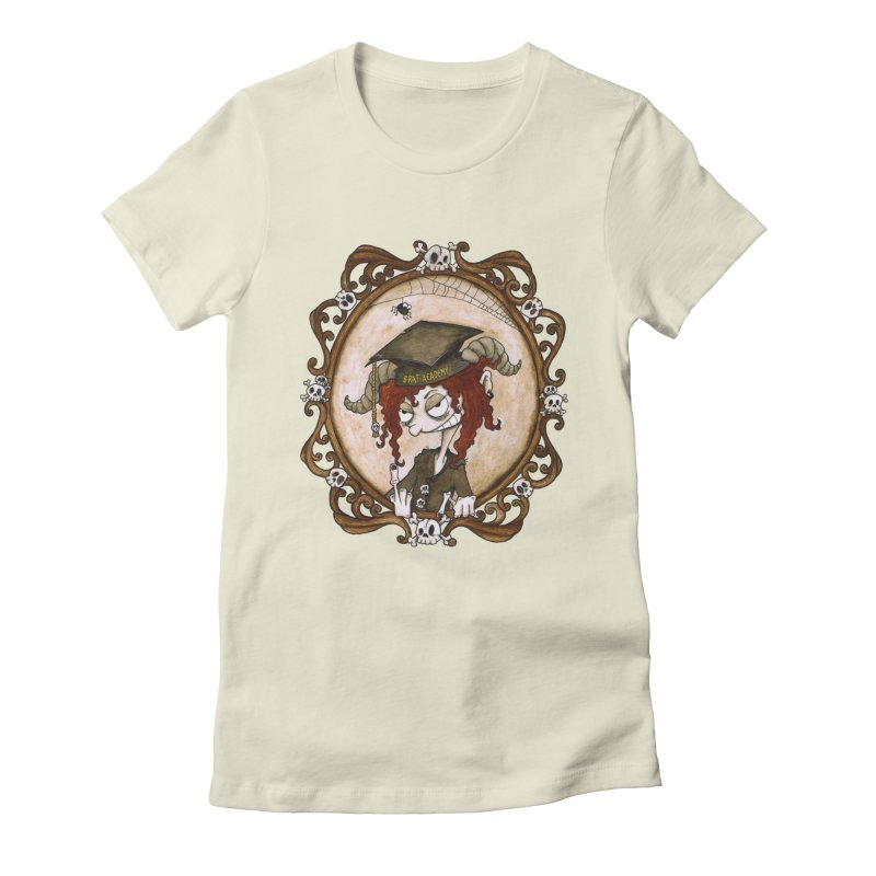 Brat Academy Women's Fitted T-Shirt by theinkedskull
