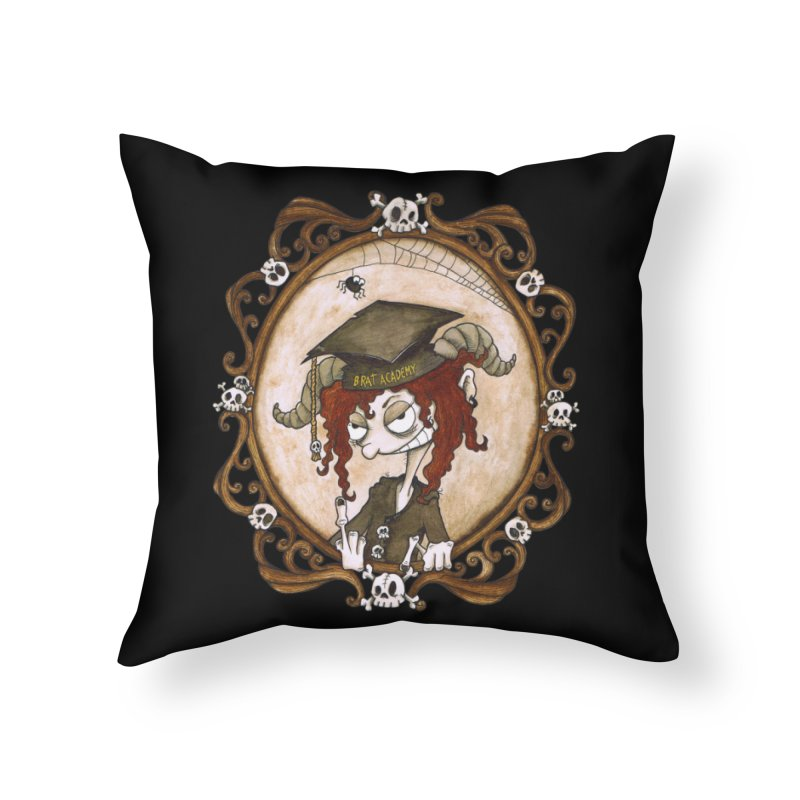 Brat Academy Home Throw Pillow by theinkedskull