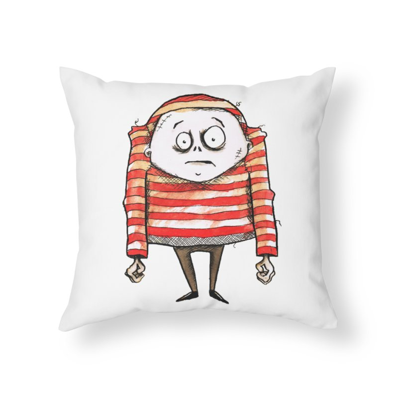 Weirdo Home Throw Pillow by theinkedskull