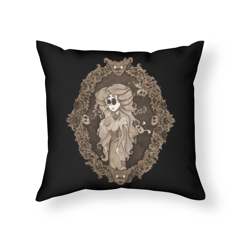 Lenore Home Throw Pillow by theinkedskull