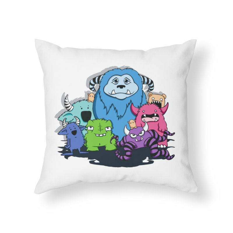Consumed Home Throw Pillow by theinkedskull