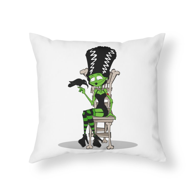Mrs. Stein Home Throw Pillow by theinkedskull