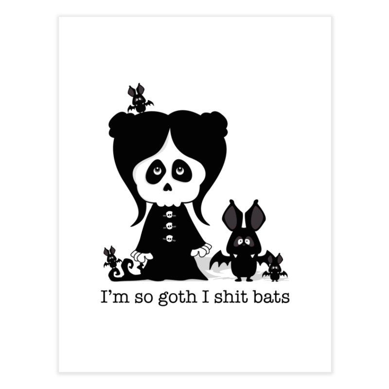 I'm so goth ... Home Fine Art Print by ink'd