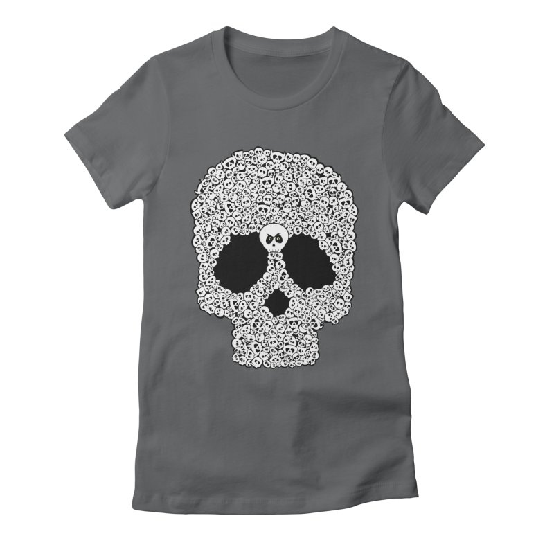 Bones Women's Fitted T-Shirt by theinkedskull