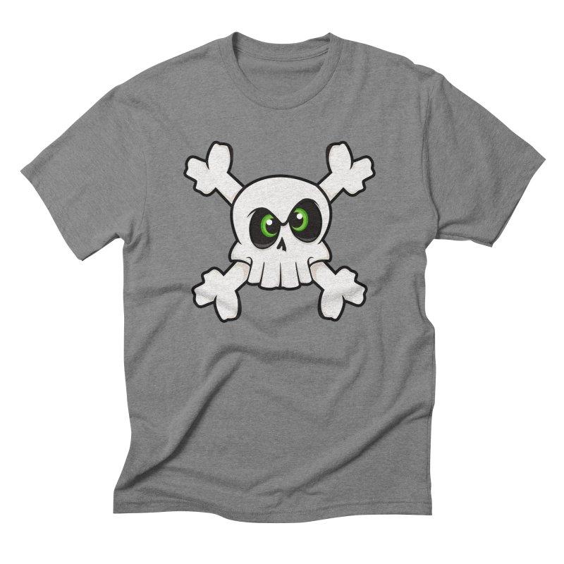 Skullface Men's Triblend T-shirt by theinkedskull