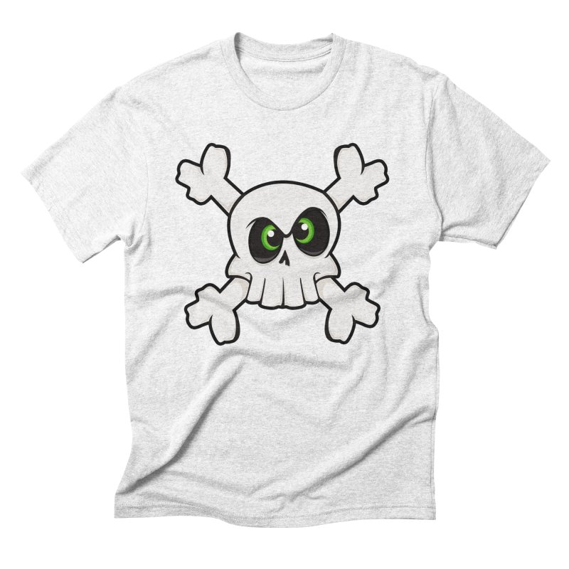 Skullface Men's Triblend T-shirt by theinkedskull