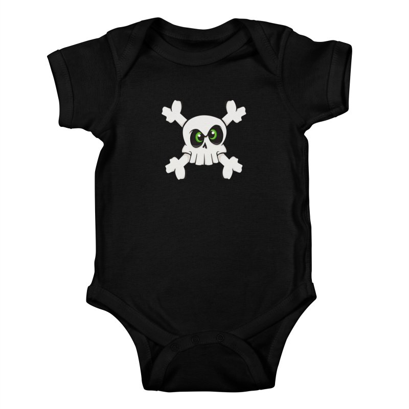 Skullface Kids Baby Bodysuit by ink'd