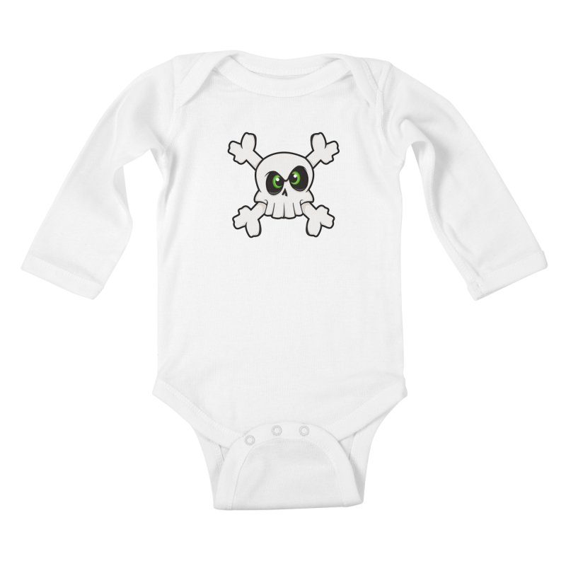 Skullface Kids Baby Longsleeve Bodysuit by ink'd
