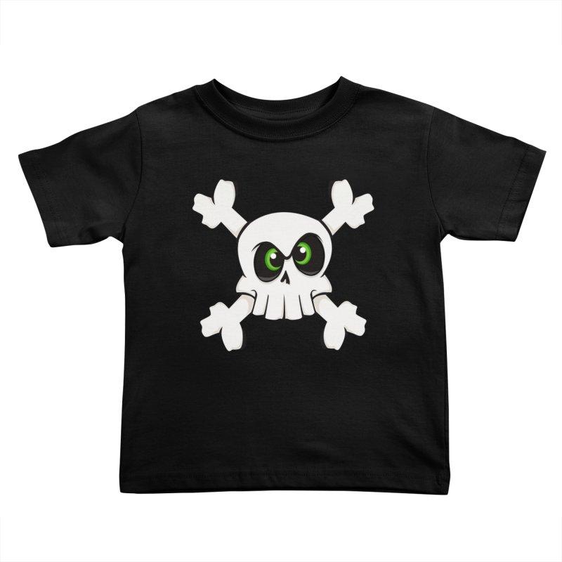 Skullface Kids Toddler T-Shirt by theinkedskull
