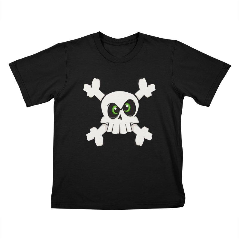 Skullface Kids T-shirt by theinkedskull
