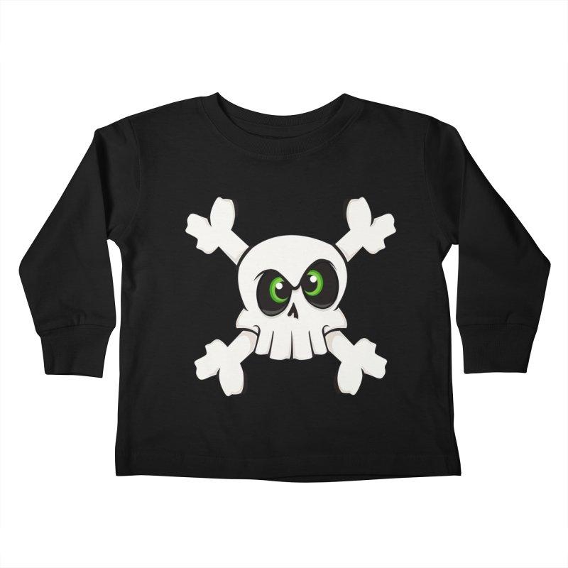 Skullface Kids Toddler Longsleeve T-Shirt by ink'd