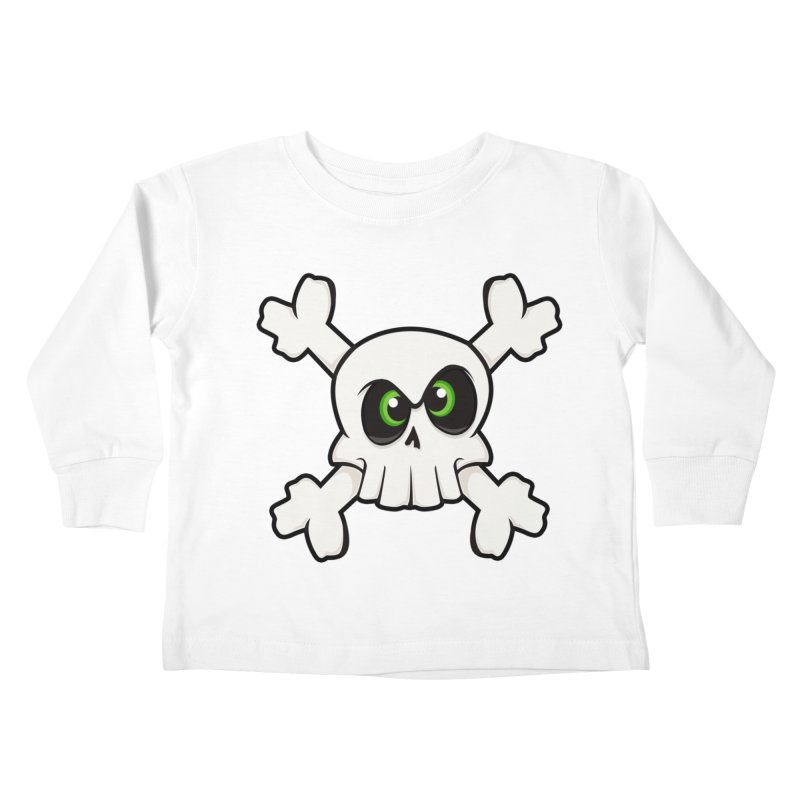 Skullface Kids Toddler Longsleeve T-Shirt by theinkedskull