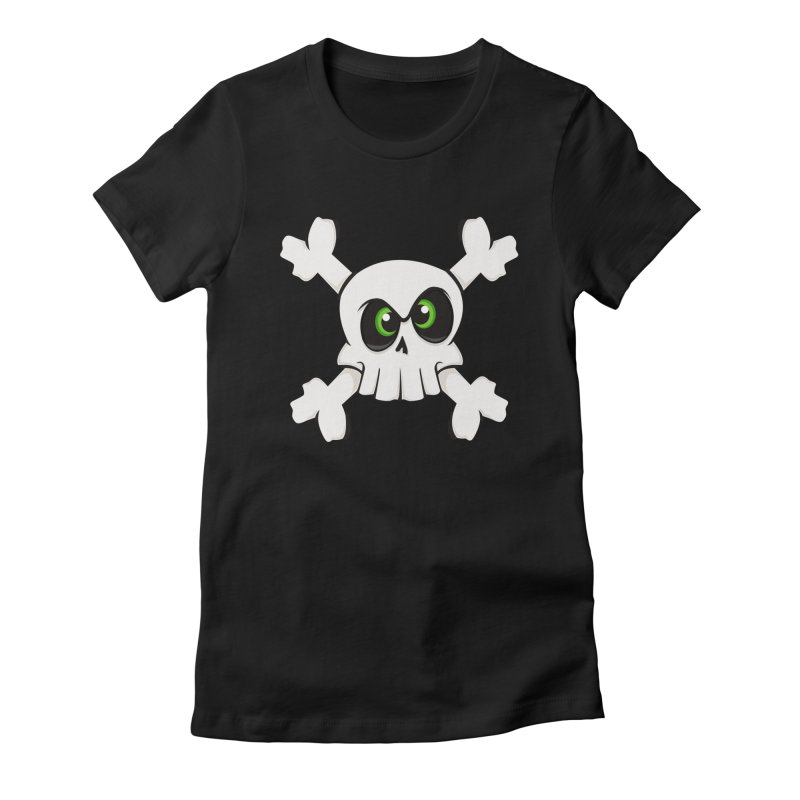 Skullface Women's Fitted T-Shirt by ink'd