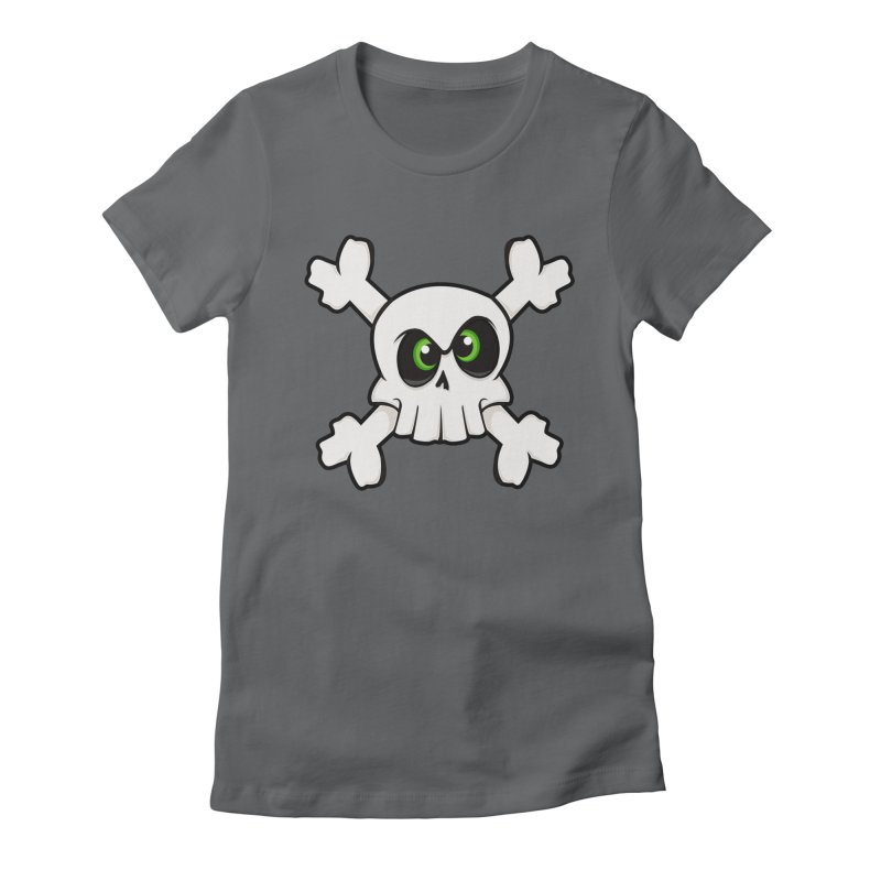 Skullface Women's Fitted T-Shirt by theinkedskull