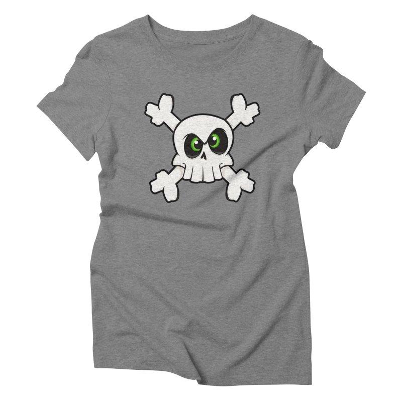 Skullface Women's Triblend T-shirt by theinkedskull
