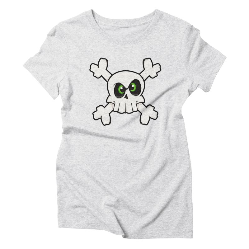 Skullface Women's Triblend T-Shirt by ink'd