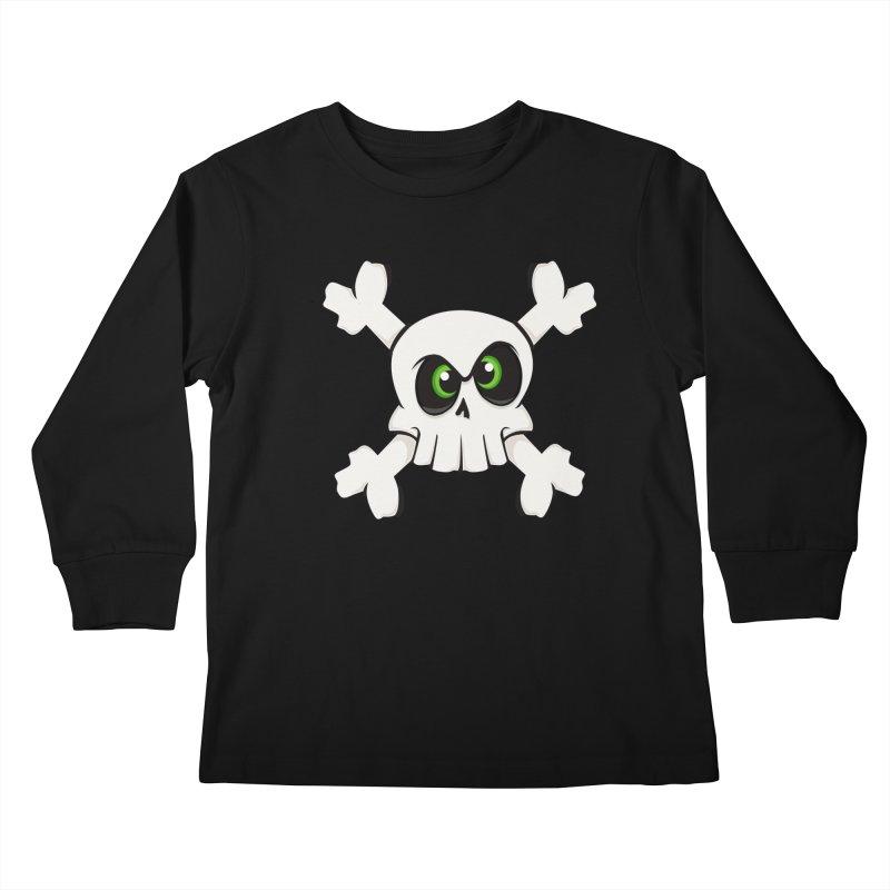 Skullface Kids Longsleeve T-Shirt by ink'd