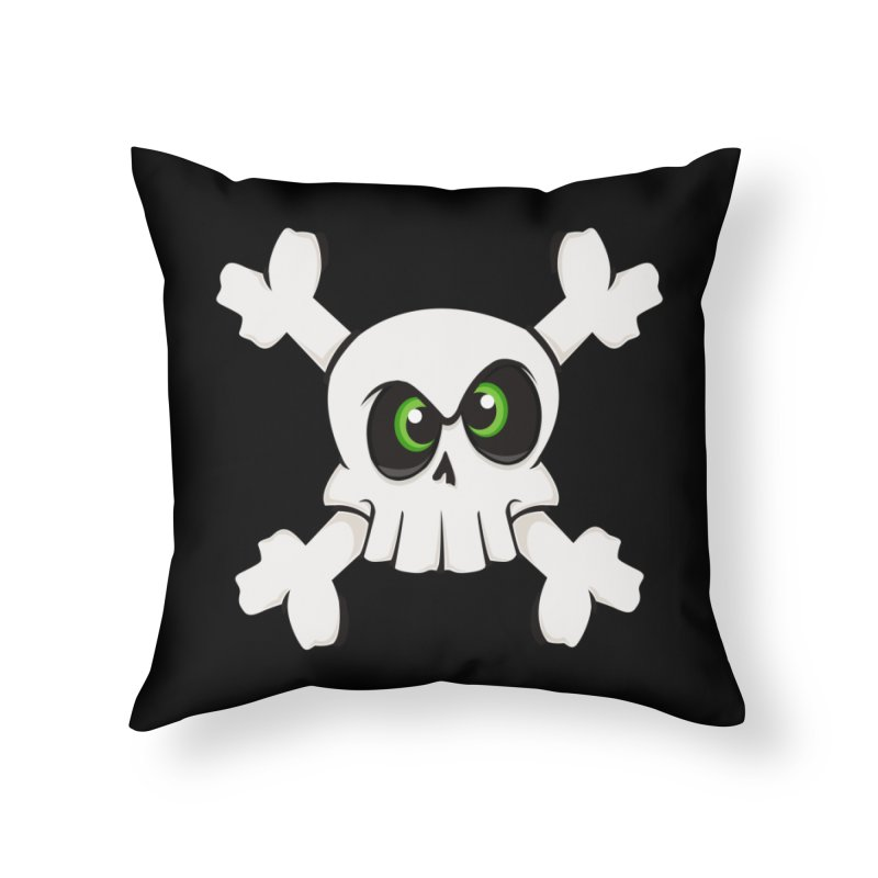 Skullface Home Throw Pillow by theinkedskull