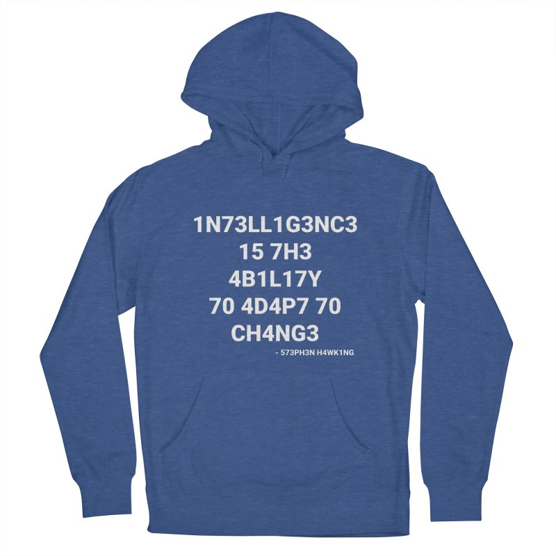 Stephen Hawking on Intelligence Men's Pullover Hoody by TheIToons Tshirt Shop