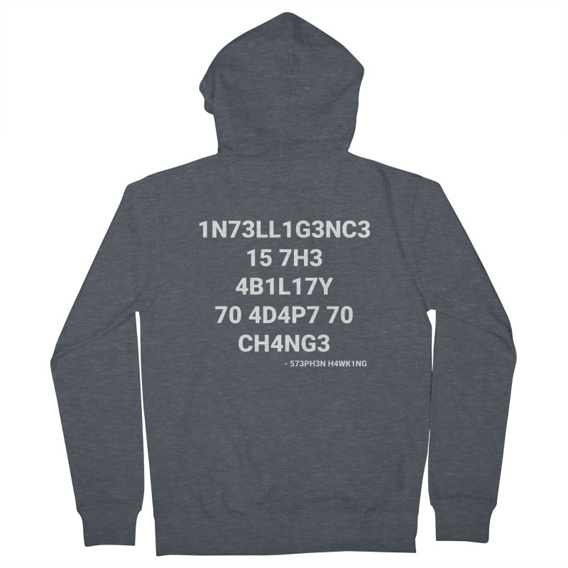 Stephen Hawking on Intelligence Women's Zip-Up Hoody by TheIToons Tshirt Shop
