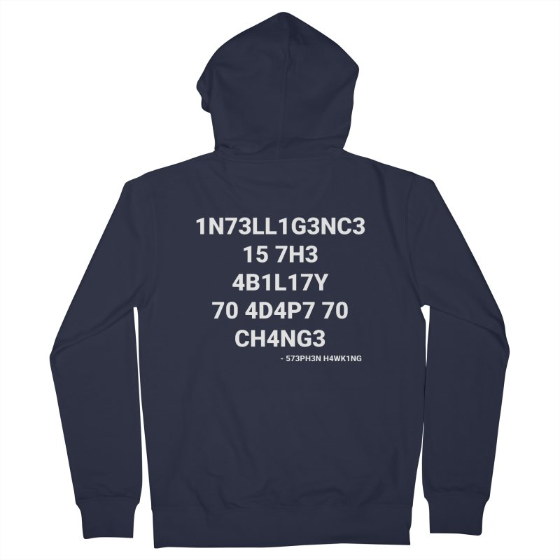 Stephen Hawking on Intelligence Men's Zip-Up Hoody by TheIToons Tshirt Shop