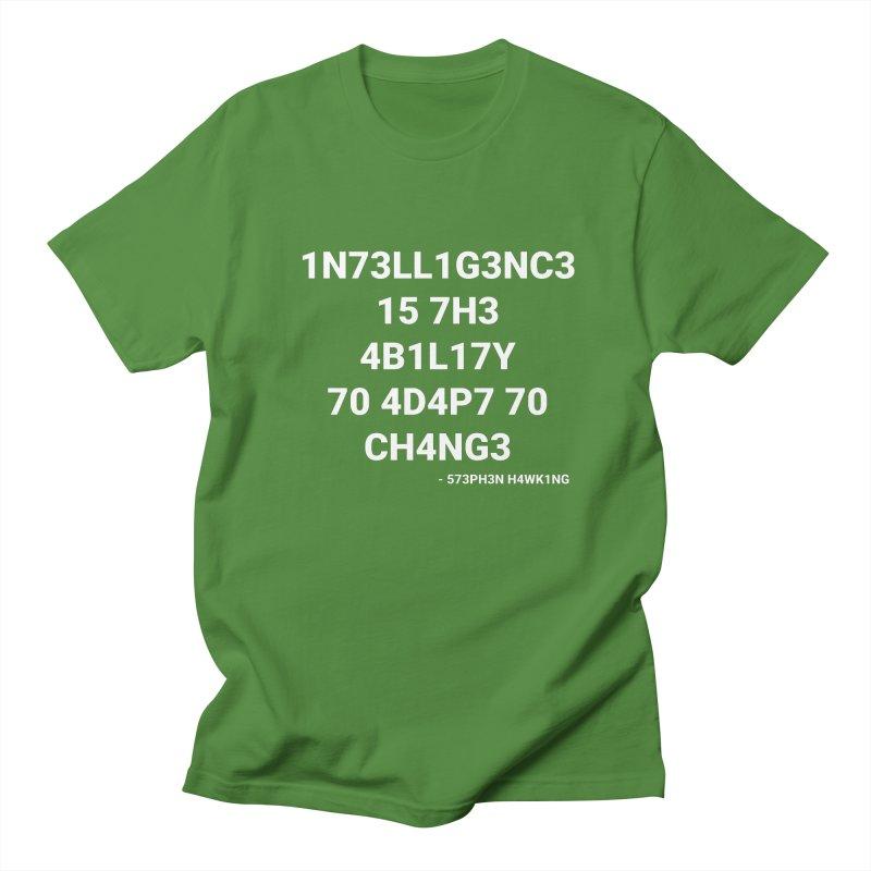 Stephen Hawking on Intelligence Men's T-Shirt by TheIToons Tshirt Shop