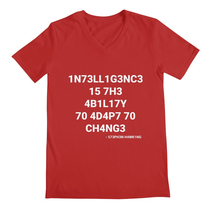 Stephen Hawking on Intelligence Men's V-Neck by TheIToons Tshirt Shop
