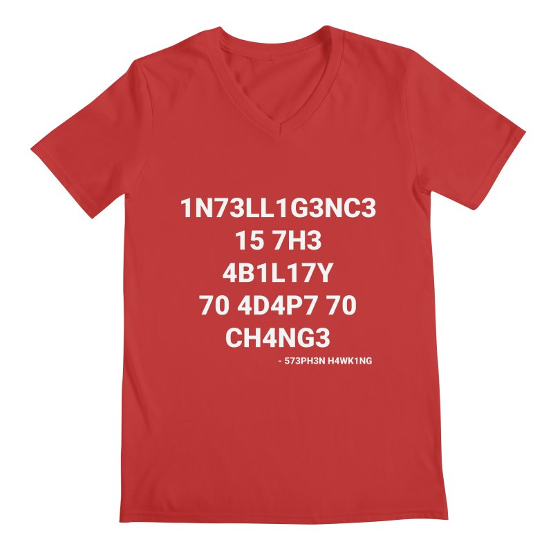 Stephen Hawking on Intelligence Men's V-Neck by TheIToons Tshirt Shop