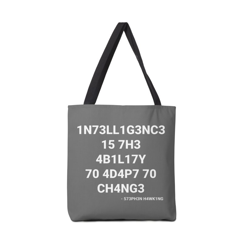 Stephen Hawking on Intelligence Accessories Bag by TheIToons Tshirt Shop