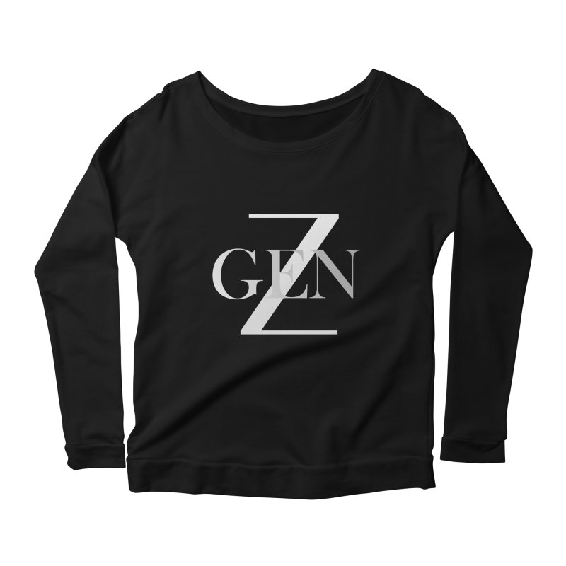 Generation Z Women's Longsleeve Scoopneck  by TheIToons Tshirt Shop