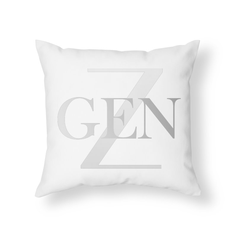 Generation Z Home Throw Pillow by TheIToons Tshirt Shop