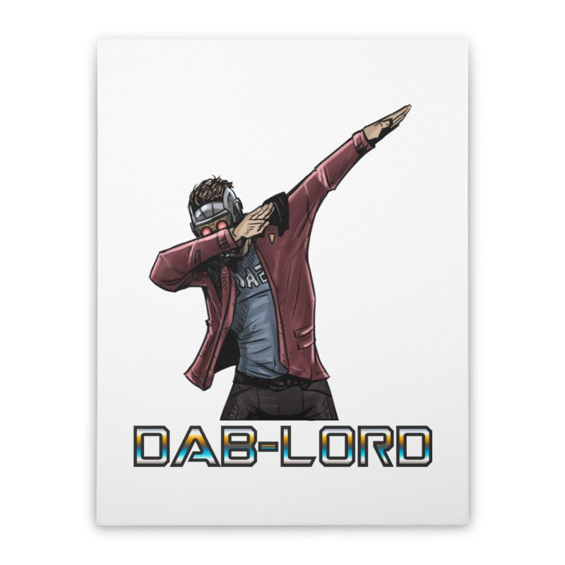 The Dab-Lord Home Stretched Canvas by Jarett Walen's Happy Fun Shop of Joy and Pretty Pi