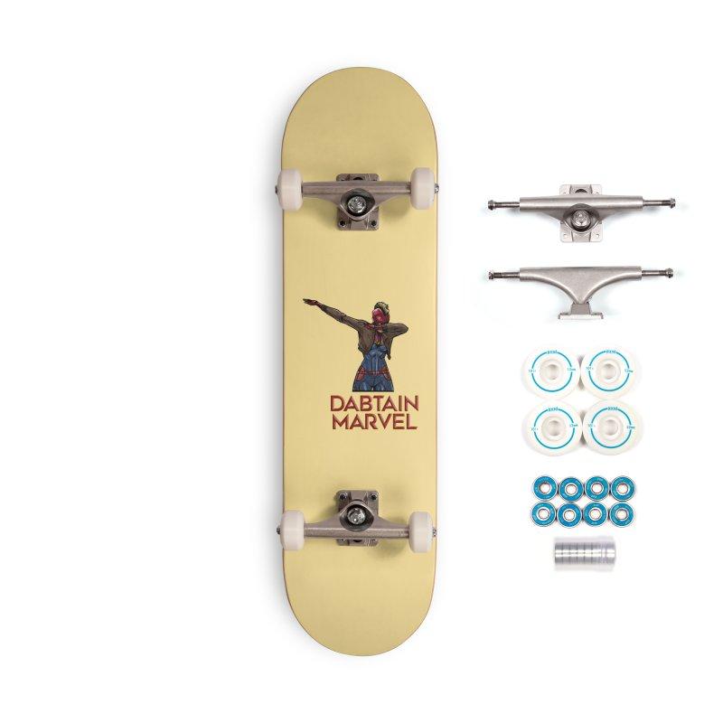 Daptain Marvel reporting for duty! Accessories Skateboard by Jarett Walen's Happy Fun Shop of Joy and Pretty Pi