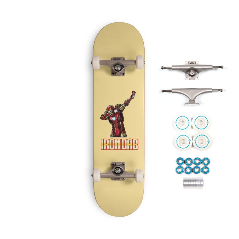 Tony Stank. I am Iron Dab! Accessories Skateboard by Jarett Walen's Happy Fun Shop of Joy and Pretty Pi