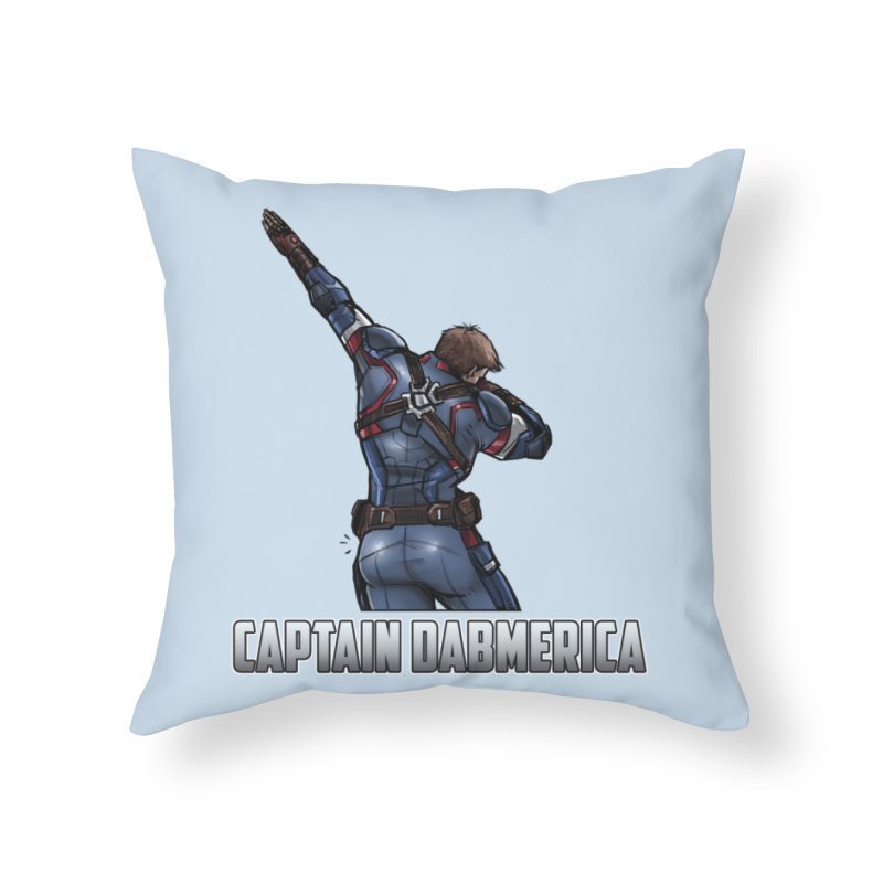 Captain Dabmerica! Dab with America's Ass! Home Throw Pillow by Jarett Walen's Happy Fun Shop of Joy and Pretty Pi