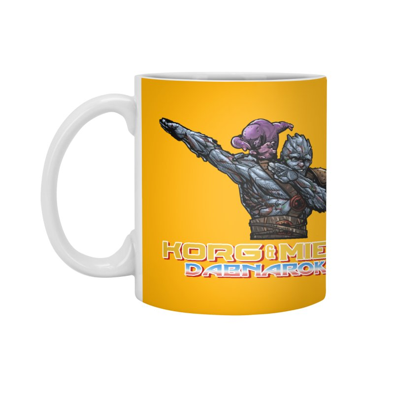 Korg & Miek - Dabbing Pals Accessories Mug by Jarett Walen's Happy Fun Shop of Joy and Pretty Pi