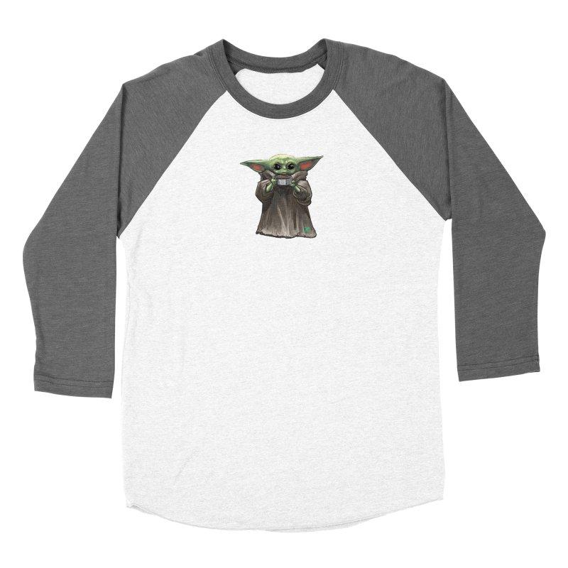 Baby Yoda - Sippin' Soup Women's Longsleeve T-Shirt by Jarett Walen's Happy Fun Shop of Joy and Pretty Pi
