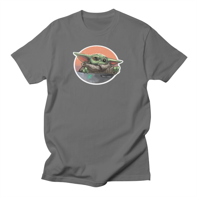 Baby Yoda in his wee baby pod Men's T-Shirt by Jarett Walen's Happy Fun Shop of Joy and Pretty Pi