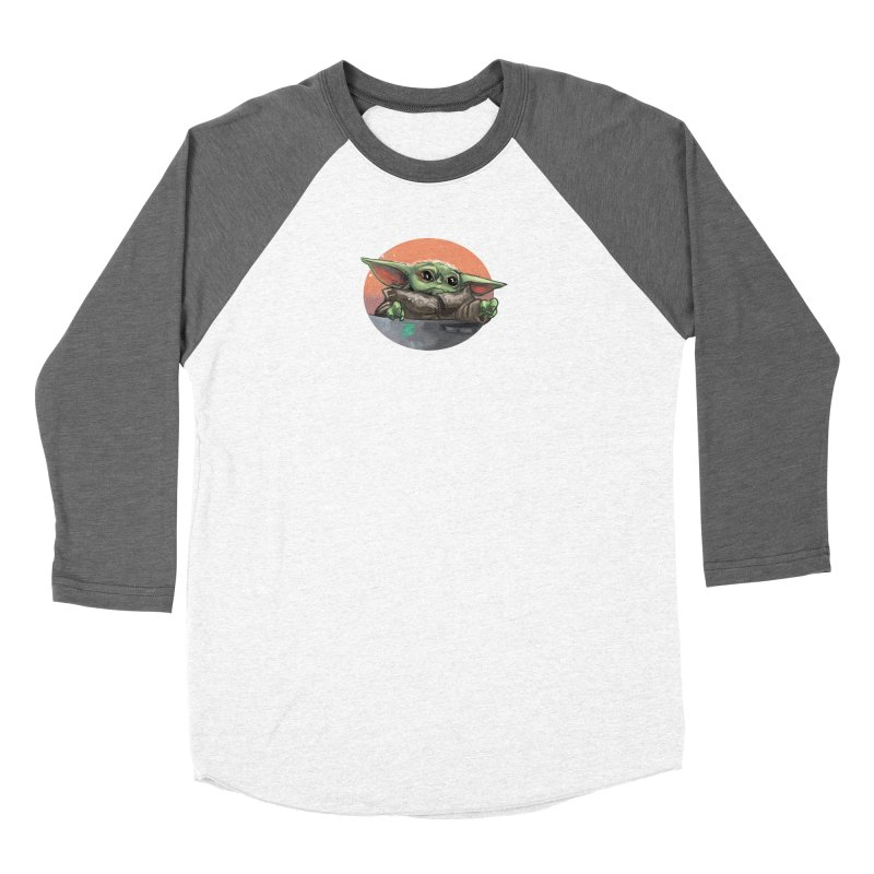 Baby Yoda in his wee baby pod Women's Longsleeve T-Shirt by Jarett Walen's Happy Fun Shop of Joy and Pretty Pi