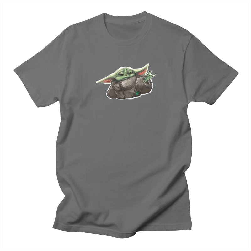 Use the Force, Baby Yoda! Men's T-Shirt by Jarett Walen's Happy Fun Shop of Joy and Pretty Pi