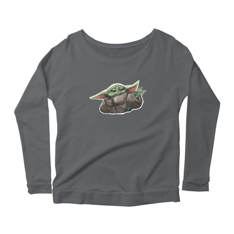 Use the Force, Baby Yoda! Women's Longsleeve T-Shirt by Jarett Walen's Happy Fun Shop of Joy and Pretty Pi