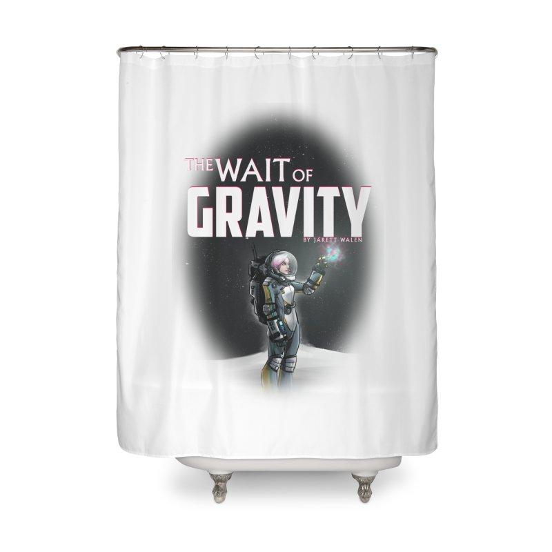 The Wait of Gravity by Jarett Walen - Cover Fade Home Shower Curtain by Jarett Walen's Happy Fun Shop of Joy and Pretty Pi