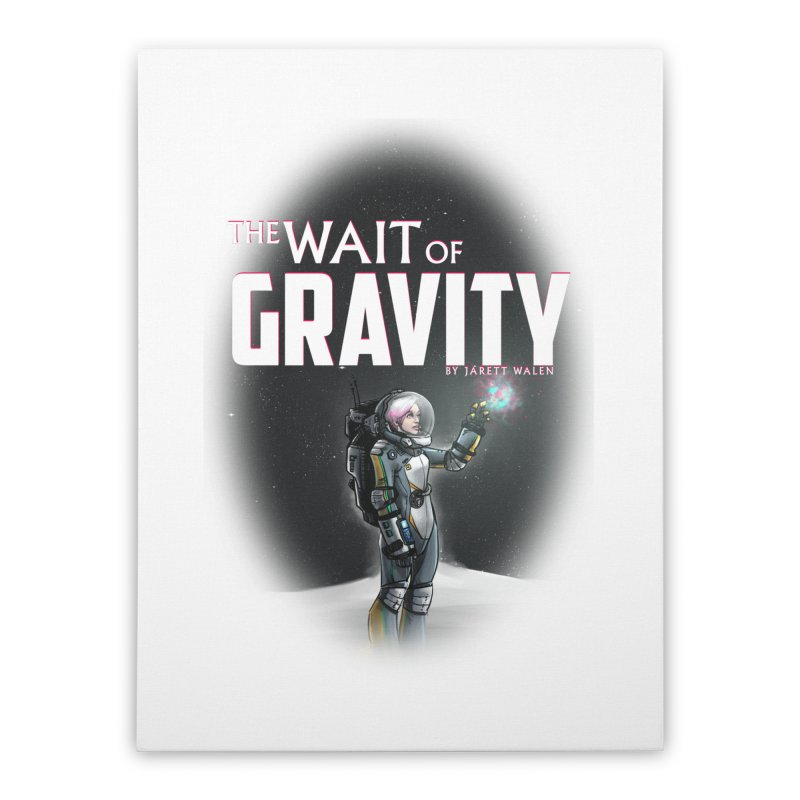 The Wait of Gravity by Jarett Walen - Cover Fade Home Stretched Canvas by Jarett Walen's Happy Fun Shop of Joy and Pretty Pi