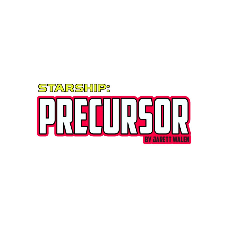 Starship: Precursor by Jarett Walen - Logo Home Stretched Canvas by Jarett Walen's Happy Fun Shop of Joy and Pretty Pi